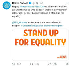 The Corrupt Misandrists At The United Nations Hijack International Men's Day By Dedicating It To Sickening Male-Feminist Allies