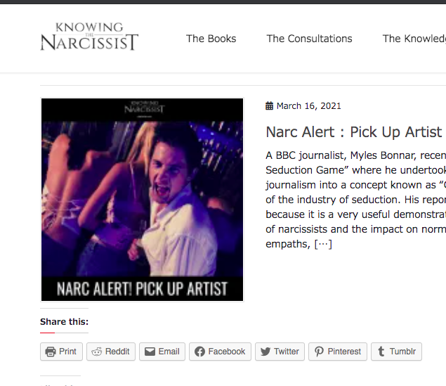 "Self-Confessed Narcissist Con-Artist ""HG Tudor"" (narcsite.com) Gives Further Bogus Analysis On Trash BBC Hit-Piece About Street Attraction & Addy Agame (Proven Innocent) In Legally Fraudulent Scam Article Titled 'Narc Alert Pick-Up Artists'"